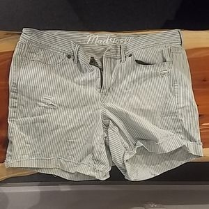 Madewell Size 31 Striped Shorts